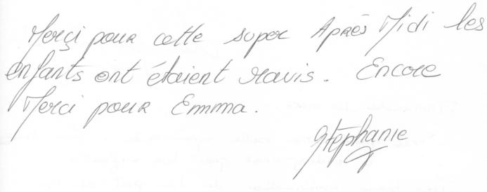 13 Février 2013 - témoignage anniversaire Emma 5 ans