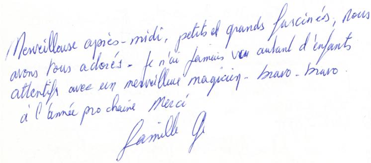 22 Avril 2013 - témoignage anniversaire Louis Paul 10 ans