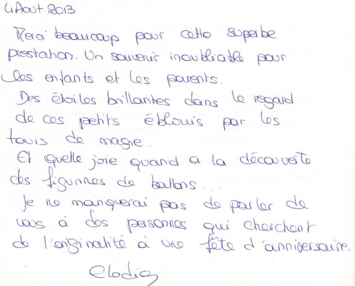 4 Aout 2013 - Anniversaire de Chloé : 5 ans