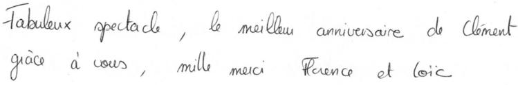 2013-10-05-témoignage anniversaire Clément 7 ans