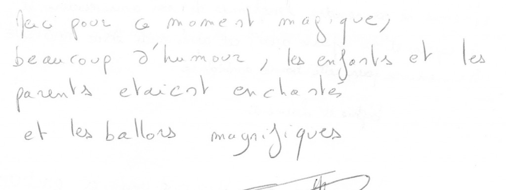 Témoignage Anniversaire Louis 8 ans