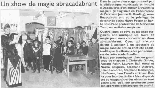 Atelier de Magie : Harry Potter