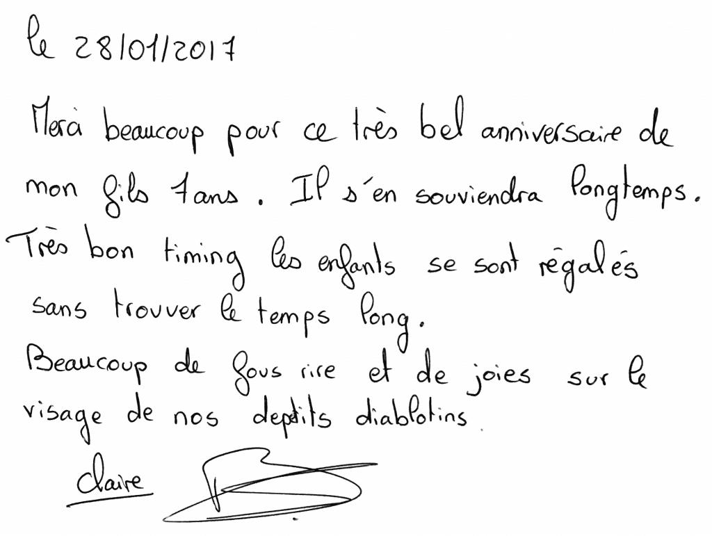 Anniversaire de Paolo 7 ans